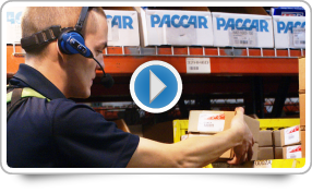 PACCAR Parts Bar Coding and Voice-activated Order Picking